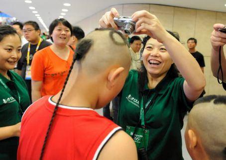 shaving bride's head