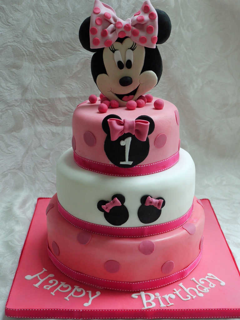 Minnie Mouse  Tier St Birthday Cake