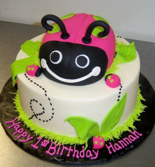 Hot_Pink_Green_Lady_Bug_1st_Birthday_Cake