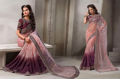 embroidered saree - 8 Cool Outfit Ideas for Newly Married Brides!