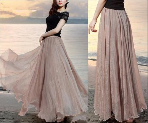 long skirts - 8 Cool Outfit Ideas for Newly Married Brides!