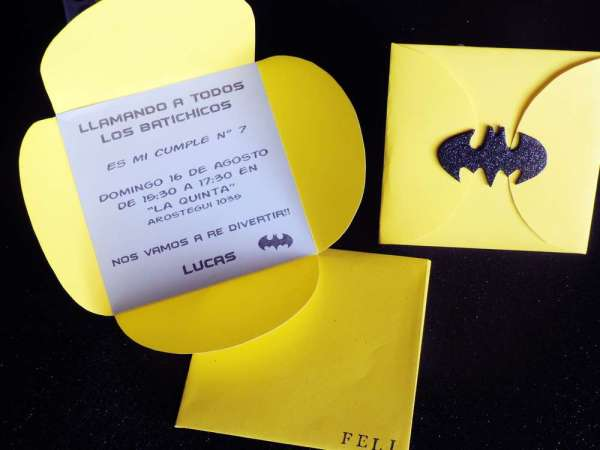 Batman Theme Birthday Party Invites