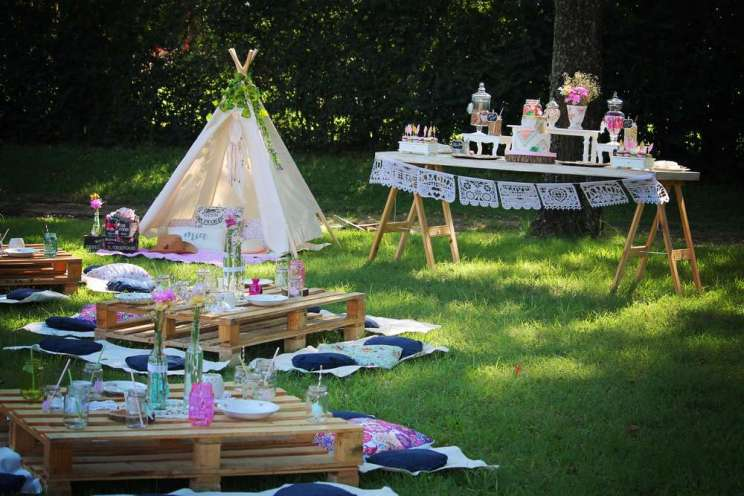 Outdoor Camping Theme Birthday Party