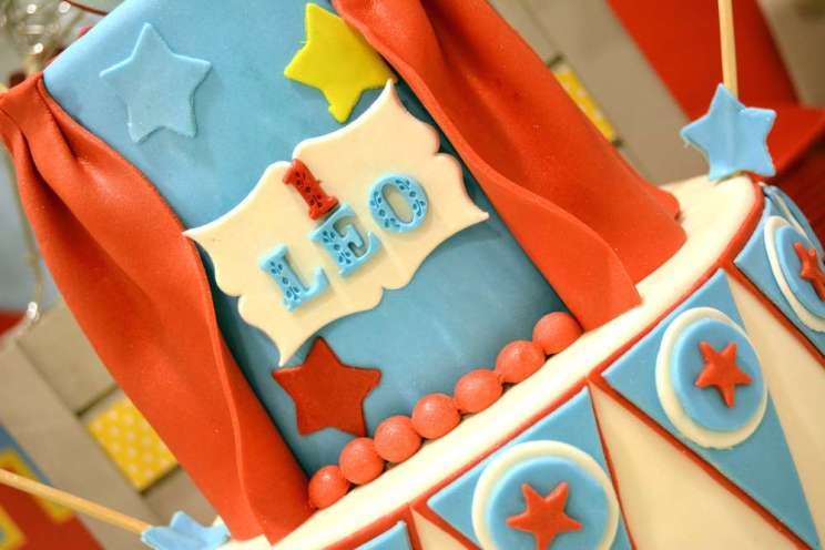 Circus Theme Birthday Party Cake 2
