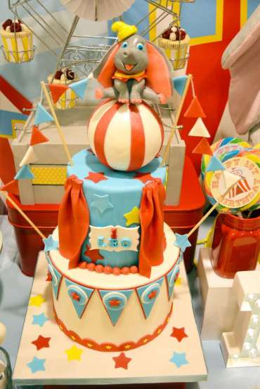 Circus Theme Birthday Party Cake