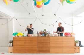Multicoloured Balloon Theme Decoration food