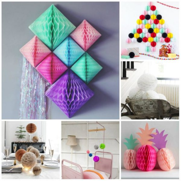 Honeycomb Pom Pom Decoration Ideas 1