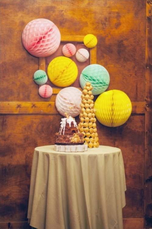 Honeycomb Pom Pom Decoration Ideas 15