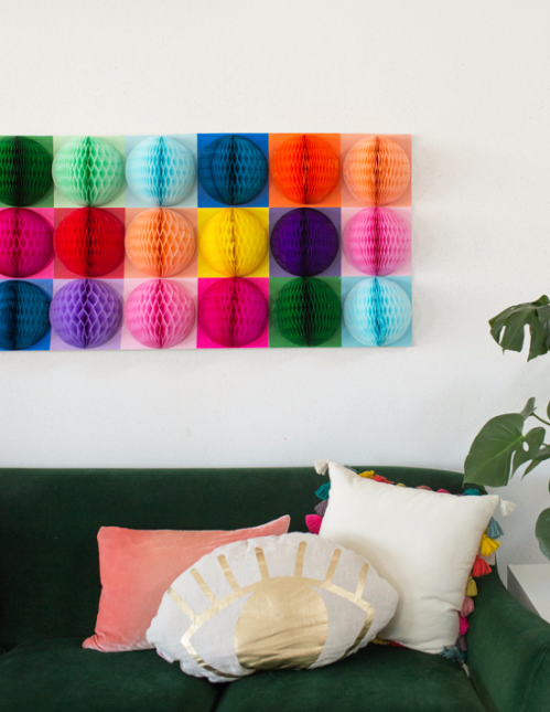 Honeycomb Pom Pom Decoration Ideas 17