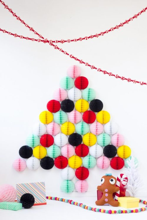 Honeycomb Pom Pom Decoration Ideas 18