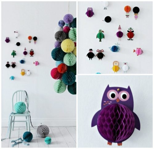 Honeycomb Pom Pom Decoration Ideas 19