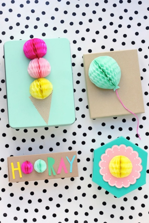 Honeycomb Pom Pom Decoration Ideas 2