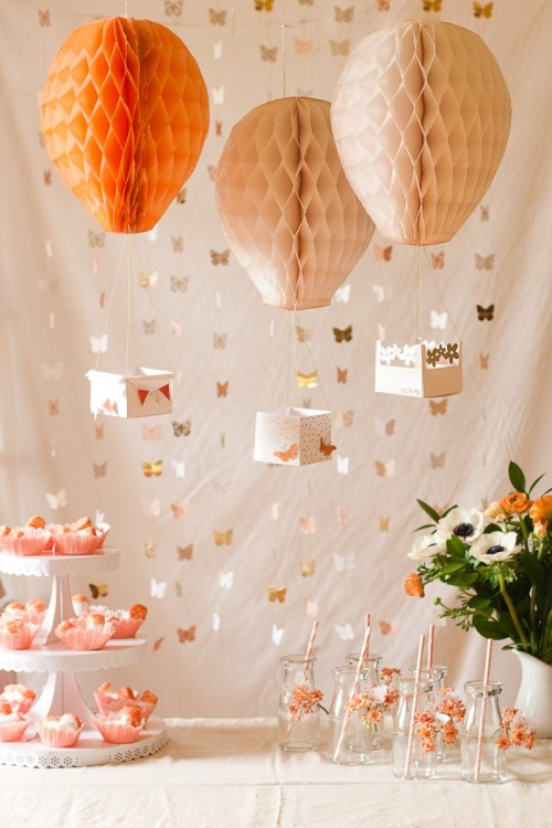 Honeycomb Pom Pom Decoration Ideas 25