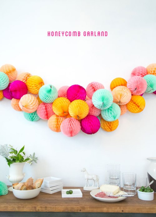 Honeycomb Pom Pom Decoration Ideas 6