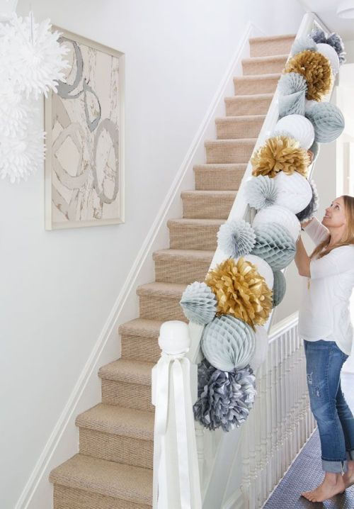 Honeycomb Pom Pom Decoration Ideas 9