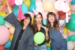 Multicoloured Balloon Theme Decoration photobooth