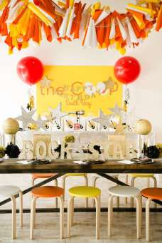 Rockstar Theme Birthday Party Decoration