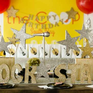 Rockstar Theme Birthday Party