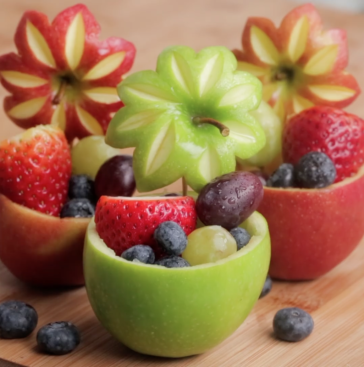 How to Make a Fruit Bowl from Fruits in 1 Minute_2