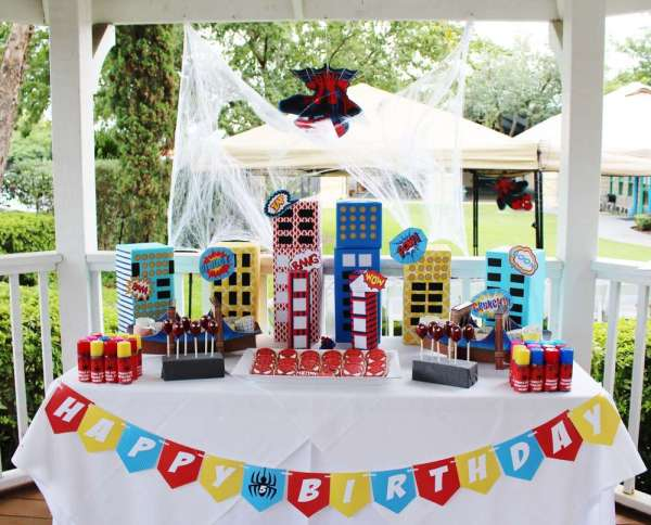 Spider Man Theme Birthday Party Decor
