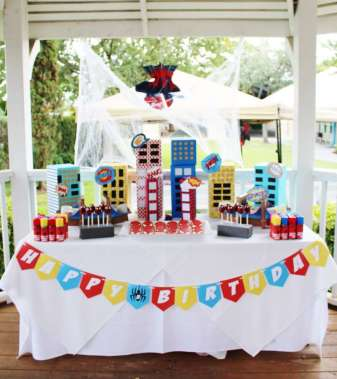 Spider Man Theme Birthday Party Decor 2