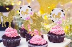 Unicorn Theme Birthday Party Cup Cake 4