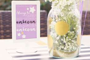 Unicorn Theme Birthday Party Table Decor 11