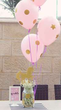 Unicorn Theme Birthday Party Table Decoration