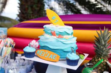 Beach Theme Birthday Party Cake