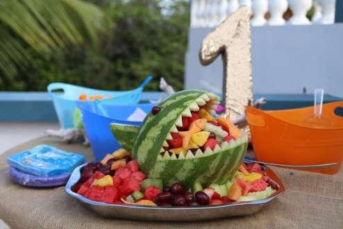 Beach Theme Birthday Party Food