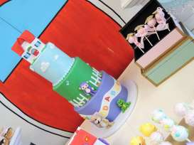 Cartoon Theme Birthday Party Cake 2
