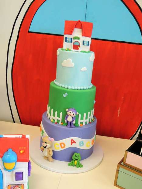 Cartoon Theme Birthday Party Cake