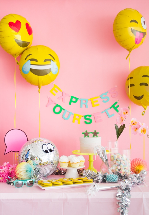Emoji Theme Birthday Decoration