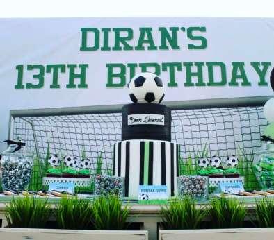 Football Theme Birthday Party Cake Decor
