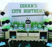 Football Theme Birthday Party Decoration