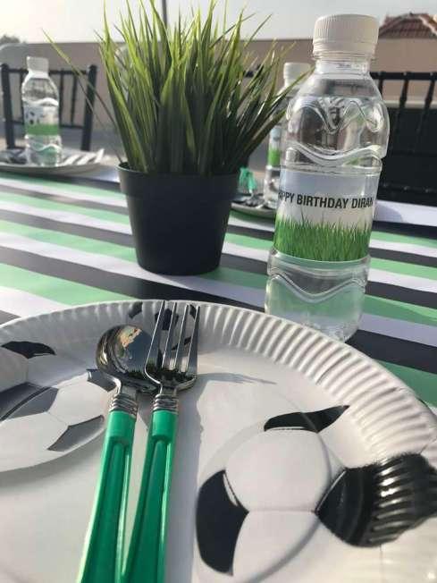 Football Theme Birthday Party Food Table Decoration 2