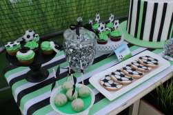 Football Theme Birthday Party Table Decor