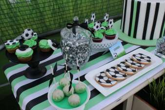 Football Theme Birthday Party Table Decor