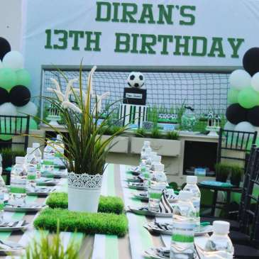 13 Year Old's Football Theme Birthday Party
