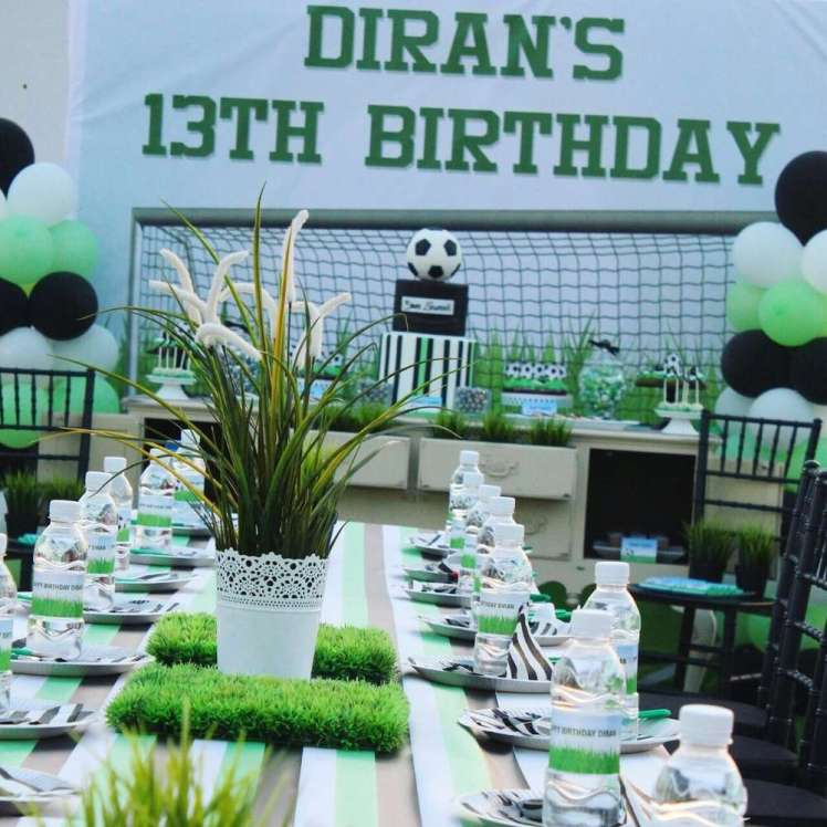 Football Theme Birthday Party Venue