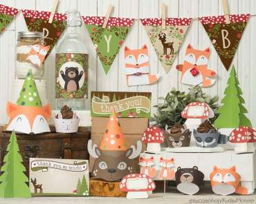 Forest Theme First Birthday Party