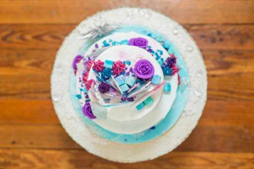 Frozen Theme Birthday Party Cake 4