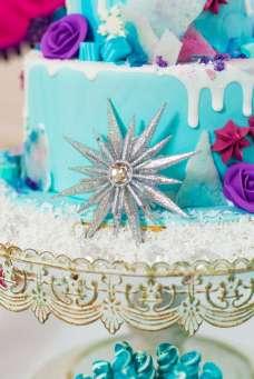 Frozen Theme Birthday Party Cake Decor