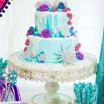 Frozen Theme Birthday Party Cake