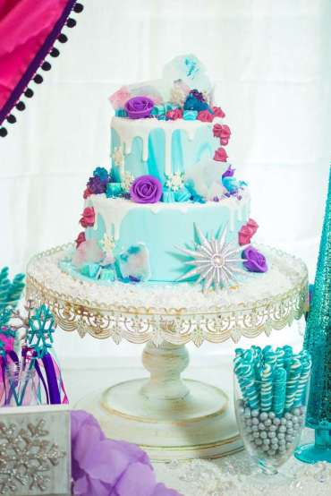 Frozen Theme Birthday Party Cake