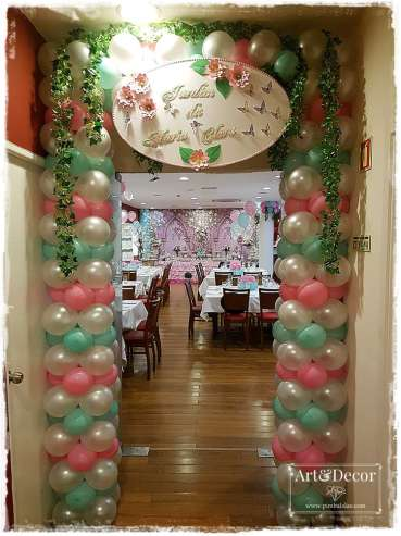 Garden Theme First Birthday Party Entry Decoration