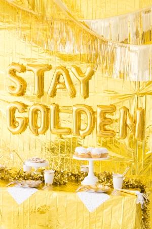Gold Birthday Party Theme Decoration 5
