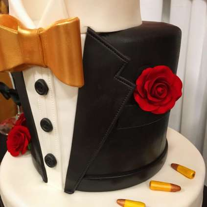 James Bond Theme Birthday Party Cake 4