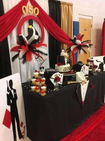 James Bond Theme Birthday Party Decoration 4