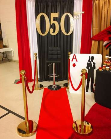 James Bond Theme Birthday Party Photo Backdrop 2